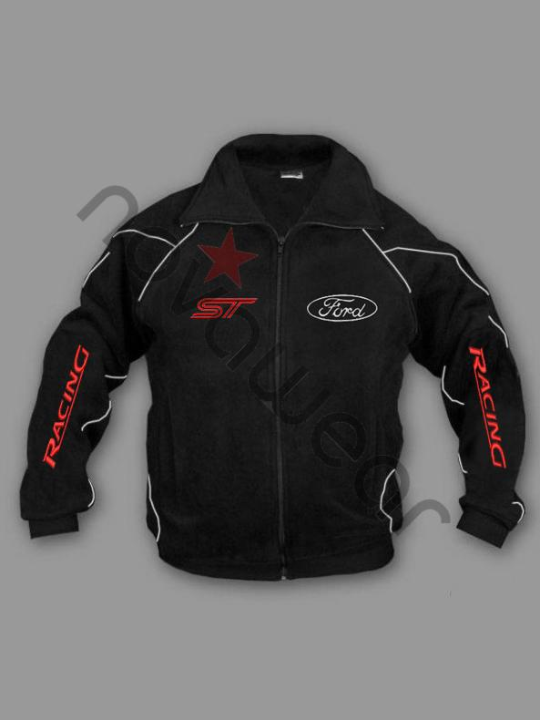 Ford St Fleece Jacket Black Ford Clothing Ford St Merchandise