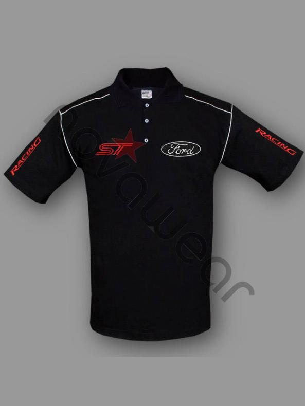 Visa Credit Card Login >> Ford ST Polo Shirt Black-Ford Clothing, Ford ST Merchandise
