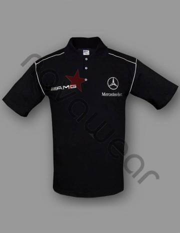Mercedes Benz Logo >> Mercedes AMG Polo Shirt Black-Mercedes AMG Jackets,Mercedes Clothing