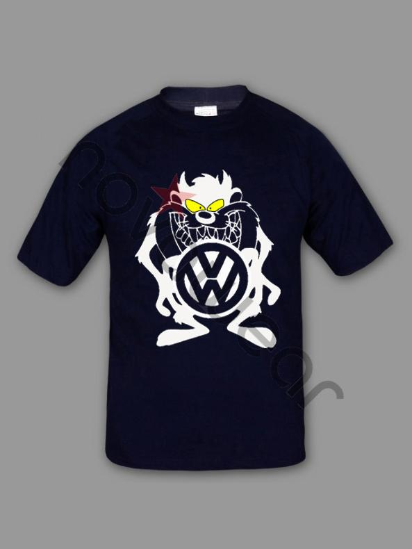 Vw Taz T Shirt Blue Vw Accessories Volkswagen Clothing