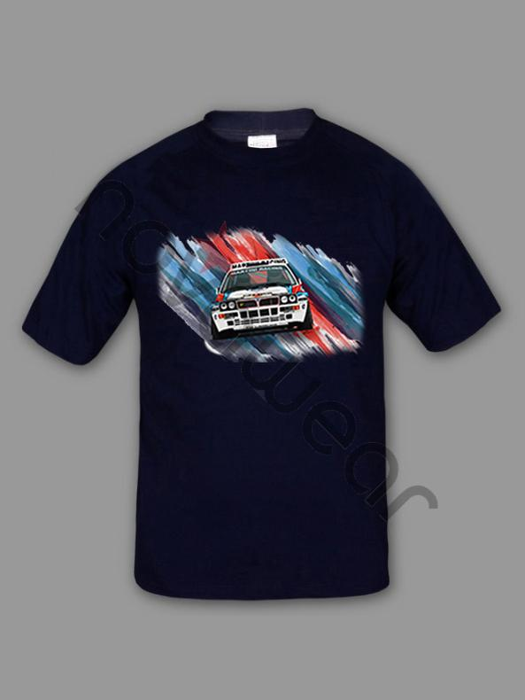 Lancia Delta Martini T Shirt Rn 100 Cotton T Shirt Blue