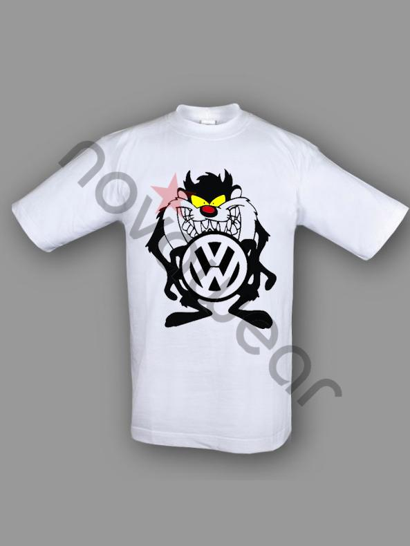VW Taz T-Shirt Blue-VW Accessories, Volkswagen Clothing, VW Caps