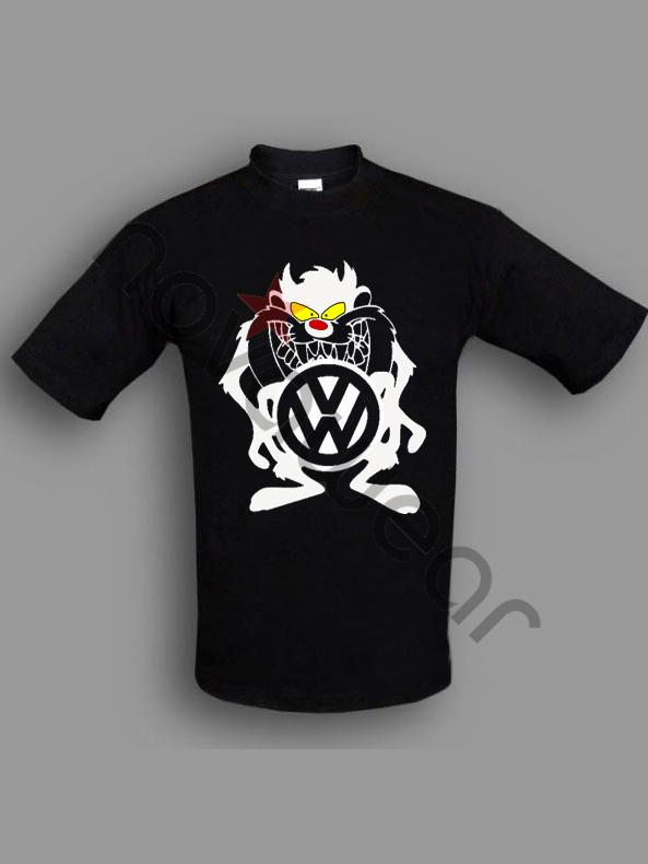 Vw Taz T Shirt Black Vw Accessories Volkswagen Clothing
