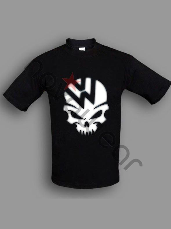 Vw Skull T Shirt Blue Vw Accessories Volkswagen Clothing