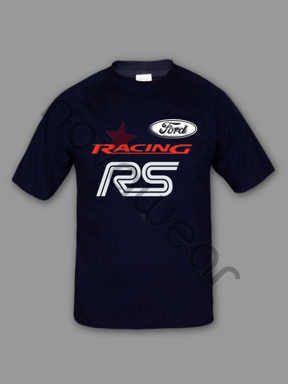 Ford Rs T Shirt White Ford Rs Clothing Ford Merchandise