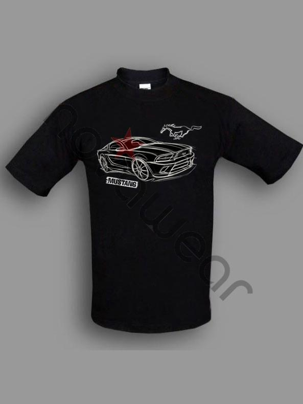 Ford Mustang T Shirt Black Ford Mustang Clothing Ford