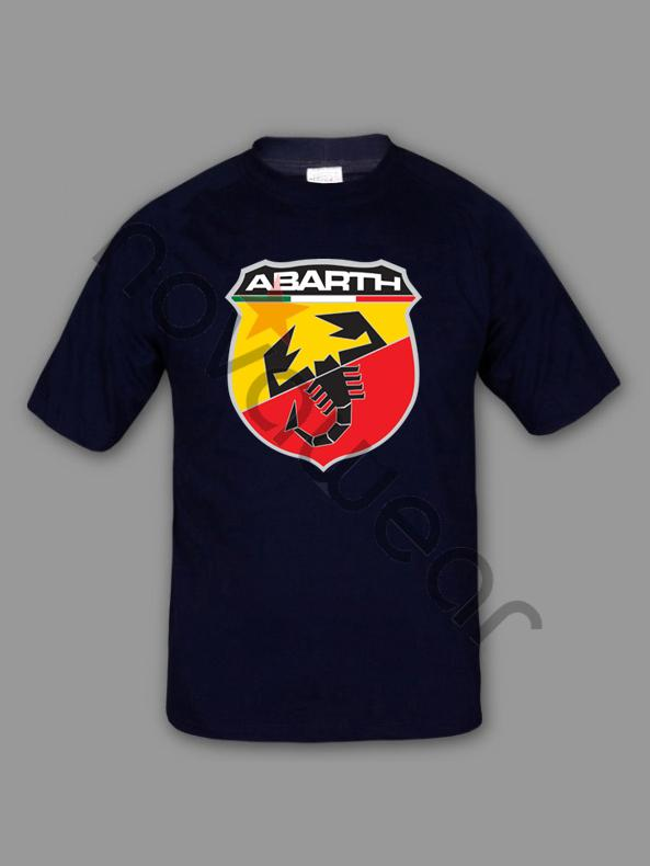 Fiat Abarth T Shirt Blue Fiat Abarth Accessories Fiat