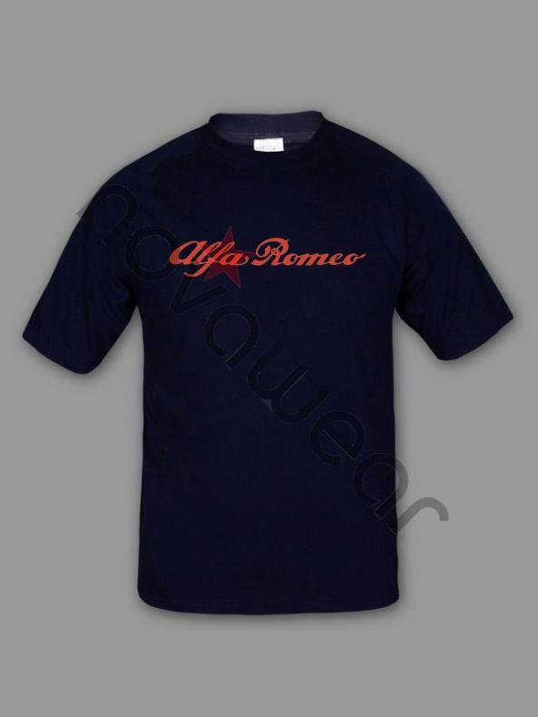 Alfa Romeo T Shirt Black Alfa Romeo Accessories Alfa