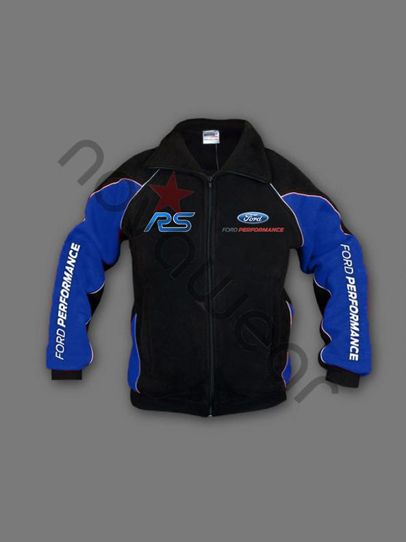 Ford RS Fleece Jacket Black-Ford Clothing, Ford RS Merchandise