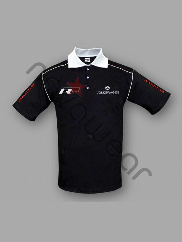 Volkswagen R Line Polo Shirt Black-VW Jackets,VW Clothing ...