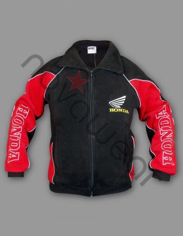Honda Fleece Jacket-Honda Clothing, Honda Merchandise, Honda Jackets