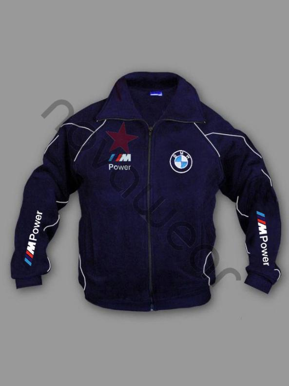 BMW M Power Fleece Jacket Blue-BMW Jackets, BMW Clothes