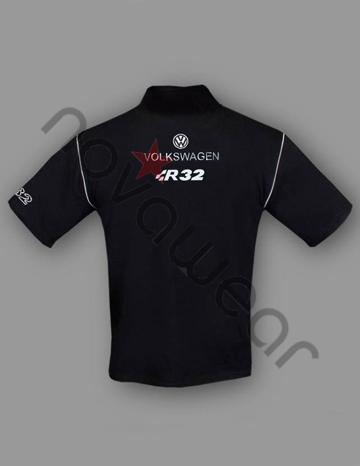 Volkswagen R32 Polo Shirt Black-VW Jackets, VW Clothing, VW Apparel