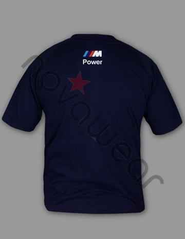 bmw m power t shirt blau bmw m power kleidung bmw fleece. Black Bedroom Furniture Sets. Home Design Ideas