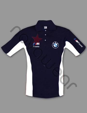 Bmw M Power Polo Shirt Blue White Bmw Accessories Bmw T Shirts