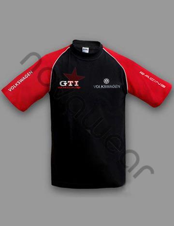 Volkswagen GTI T-Shirt Black/Red-Volkswagen Clothing, Visa Electron