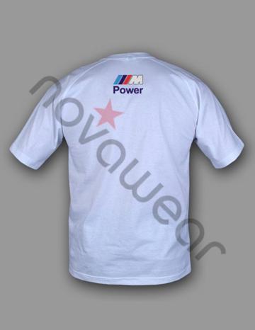 bmw m power t shirt wei bmw zubeh r bmw bekleidung. Black Bedroom Furniture Sets. Home Design Ideas